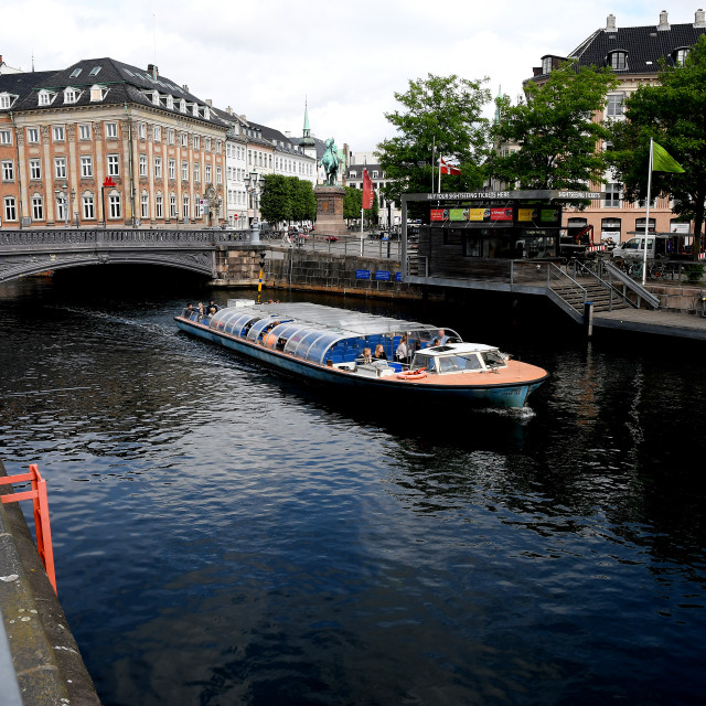 """Denmark has r-open for tourism for canal boat ride_covid-19"" stock image"