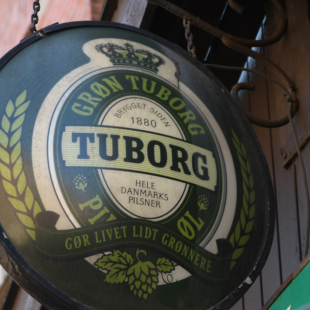"""One of Denmarks oldest Tuborg Beer 1880 years"" stock image"
