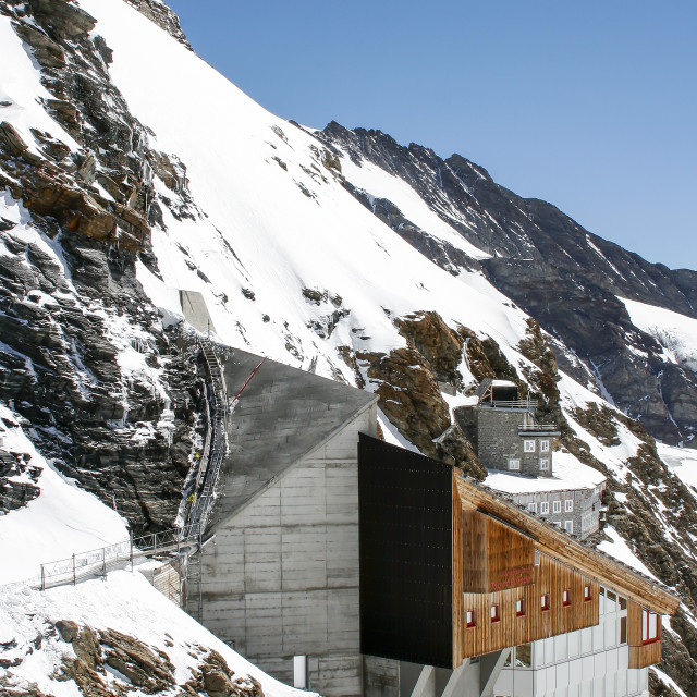 """""""The Sphinx and Jungfraujoch"""" stock image"""