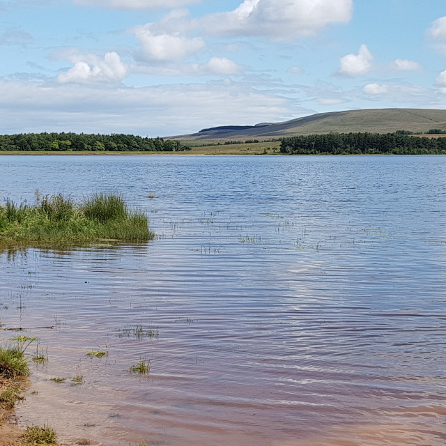 """Threipmuir Reservoir"" stock image"
