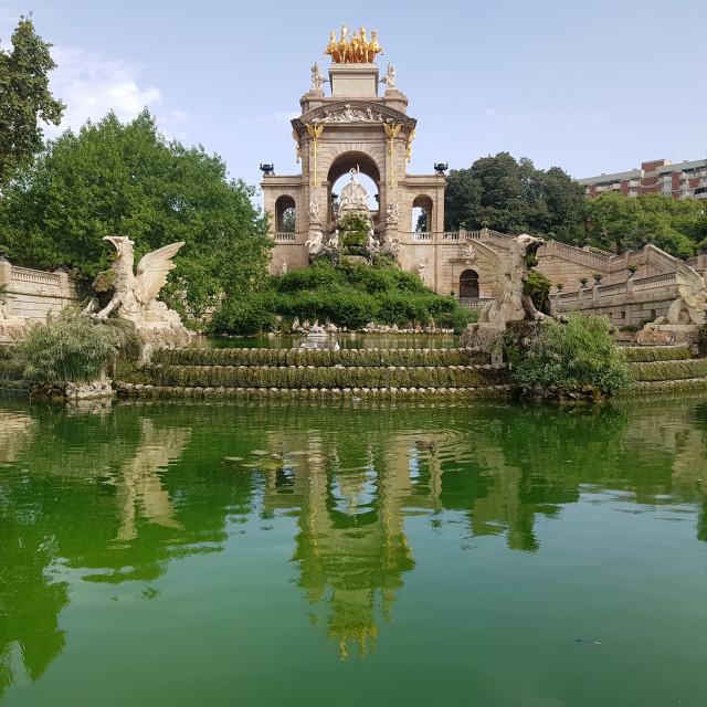 """Parc de la Ciutadella, Barcelona"" stock image"