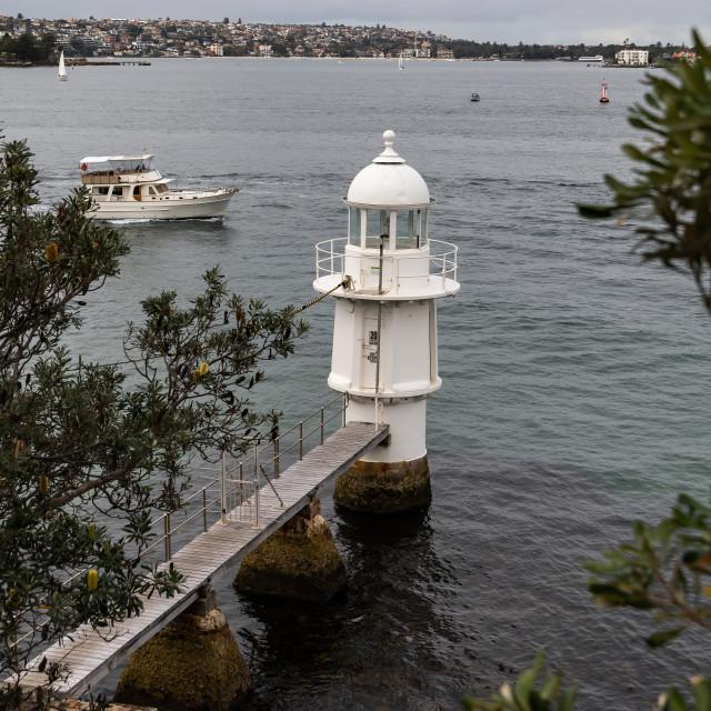 """Bradleys Head Lighthouse"" stock image"