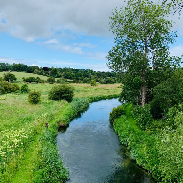 """""""The River Itchen"""" stock image"""