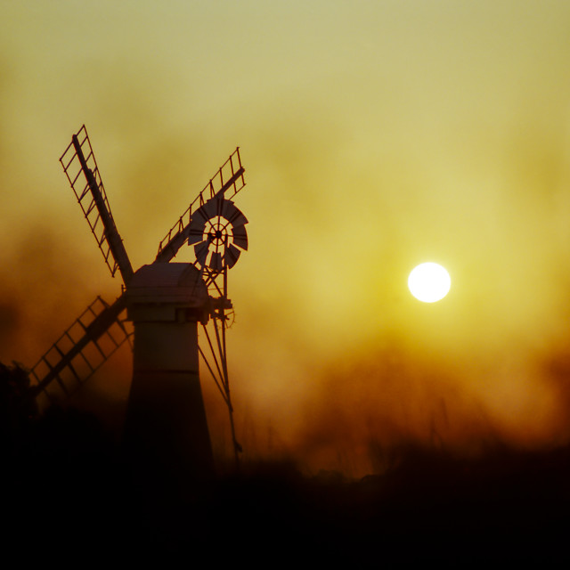 """Thurne Windmill, Norfolk, England"" stock image"