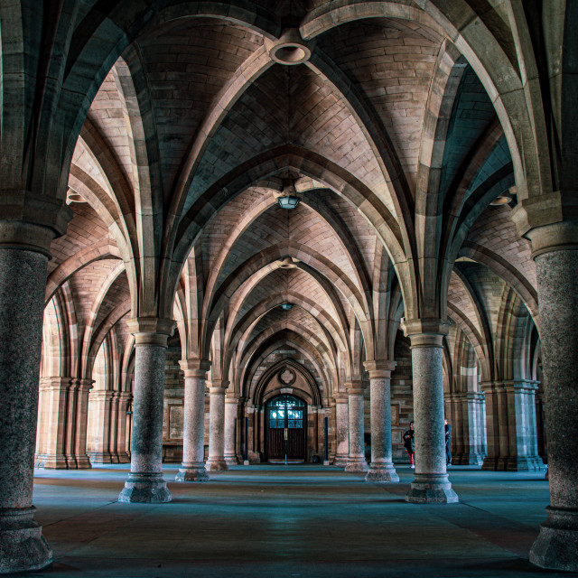 """""""Glasgow Cloisters"""" stock image"""