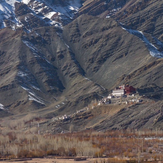 """Matho Gompa - a Tibetan Buddhist monastery in Ladakh"" stock image"
