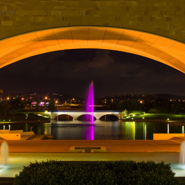 """Bond University grounds at night"" stock image"