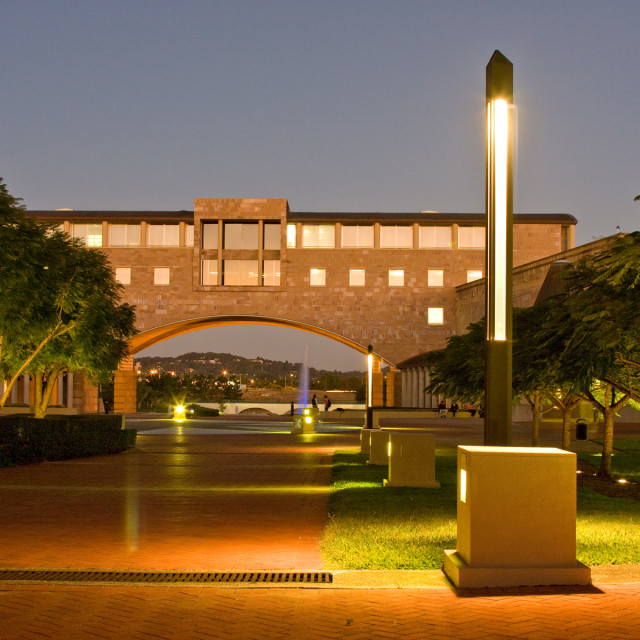 """Bond University at night"" stock image"
