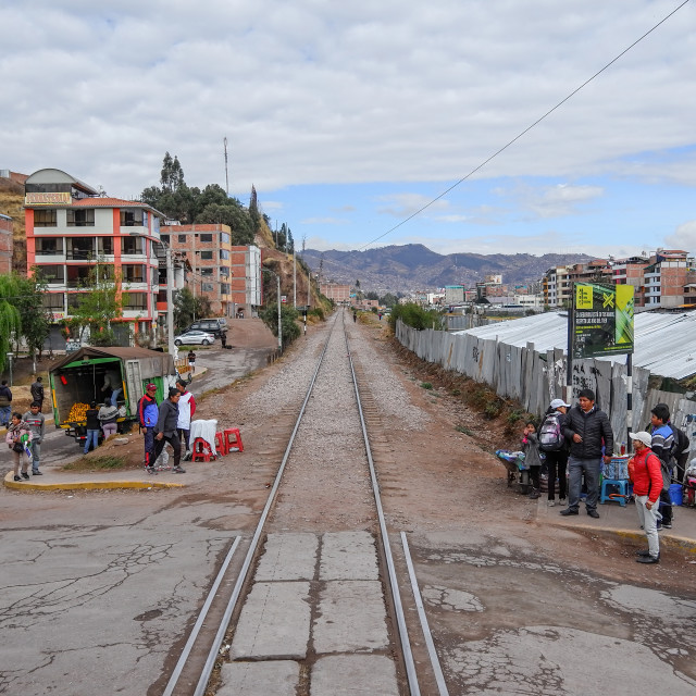 """""""On the Titicaca Train"""" stock image"""