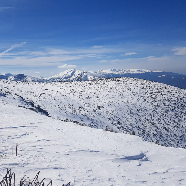 """Rila Moutains, Bulgaria from Yastrebetz Summit"" stock image"