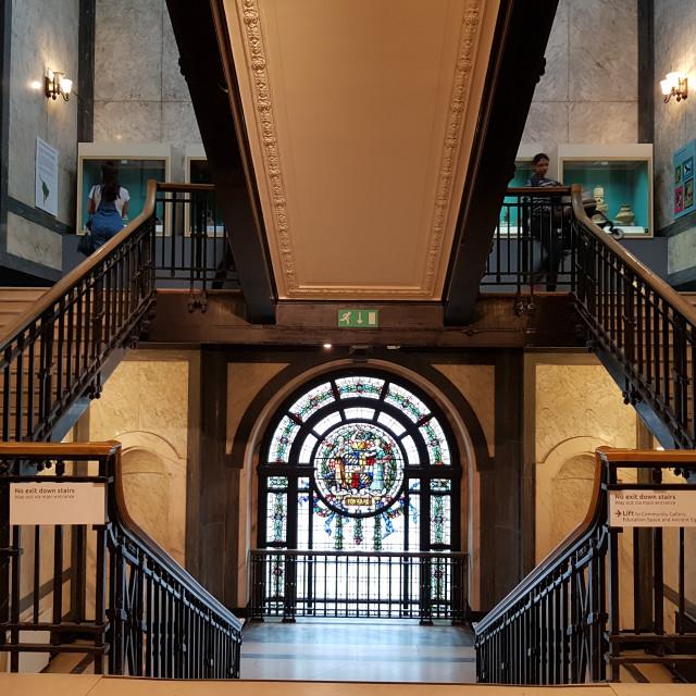 """Stairwell, Birmingham, England"" stock image"