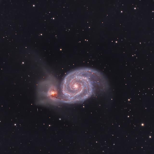 """Whirlpool Galaxy"" stock image"