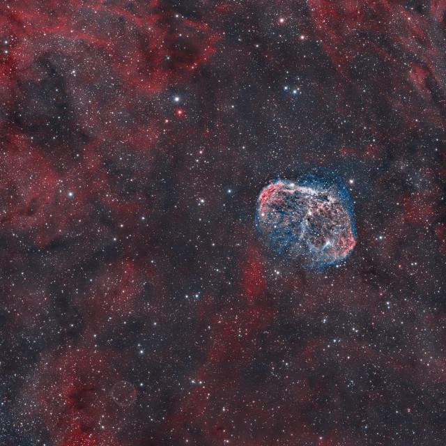 """""""Crescent Nebula"""" stock image"""