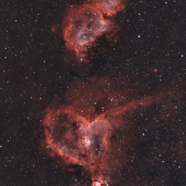 """Heart and Soul Nebulae"" stock image"