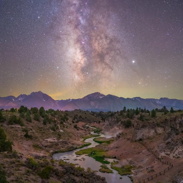 """Hot Creek Milky Way"" stock image"