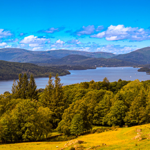 """""""Panoramic view of windermere"""" stock image"""