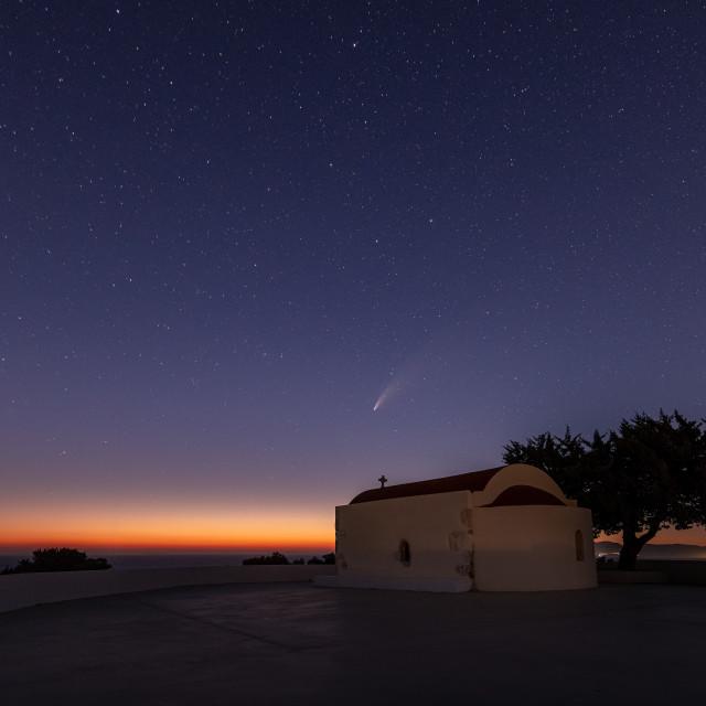 """Comet Neowise in Kos island Greece"" stock image"
