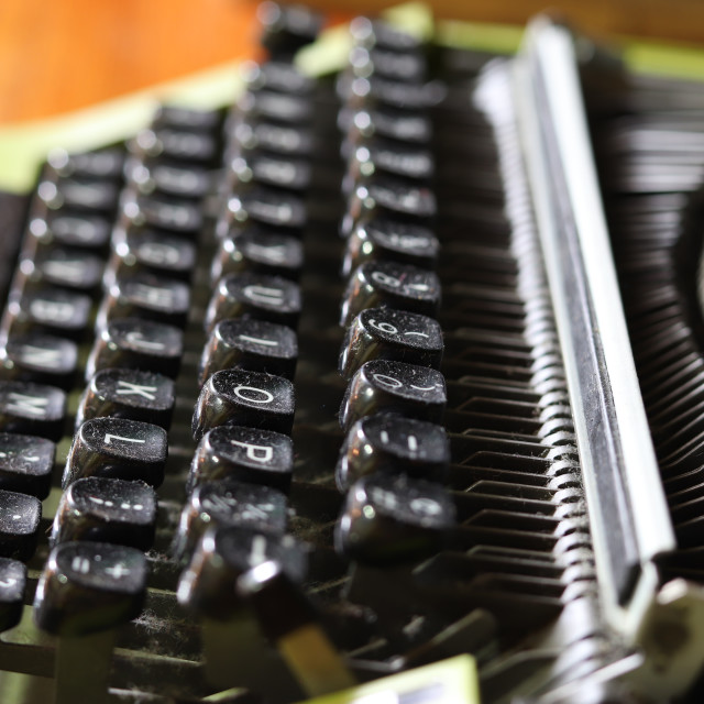 """typewriter with black keys"" stock image"