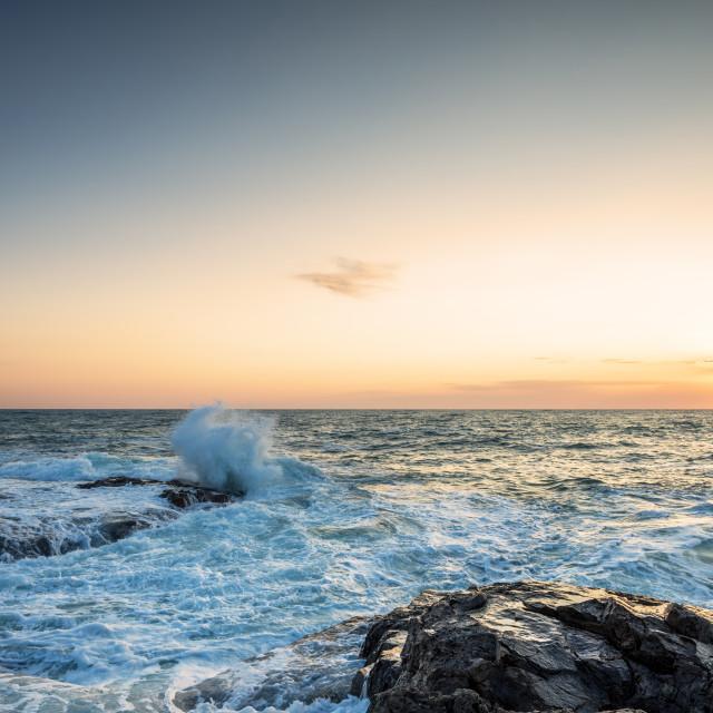 """Beautiful tropical sunrise on the beach."" stock image"