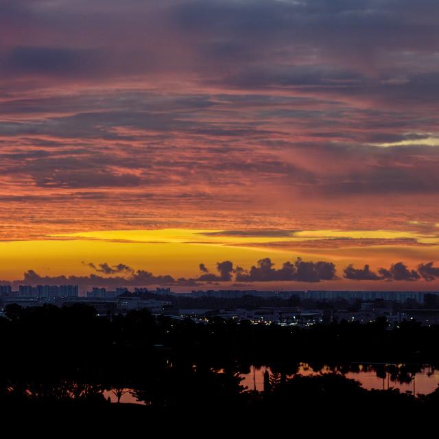 """Fiery Sunrise"" stock image"