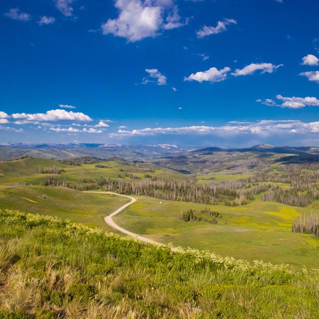 """Panoramic mountain view"" stock image"