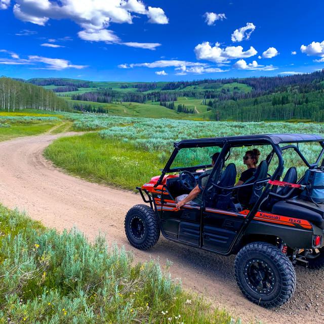 """UTV Mountain dirt road"" stock image"