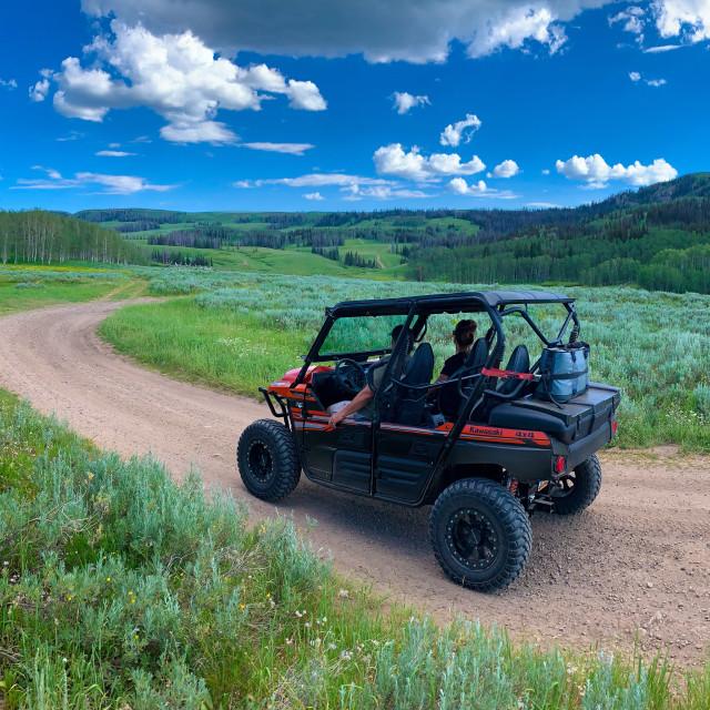 """UTV off road in Utah Mountains"" stock image"
