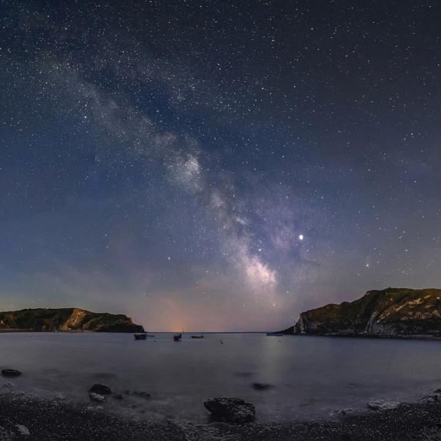 """Lulworth Cove Under The Stars"" stock image"
