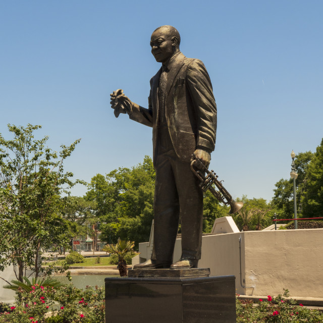 """""""Louis Armstrong statue in New Orleans"""" stock image"""