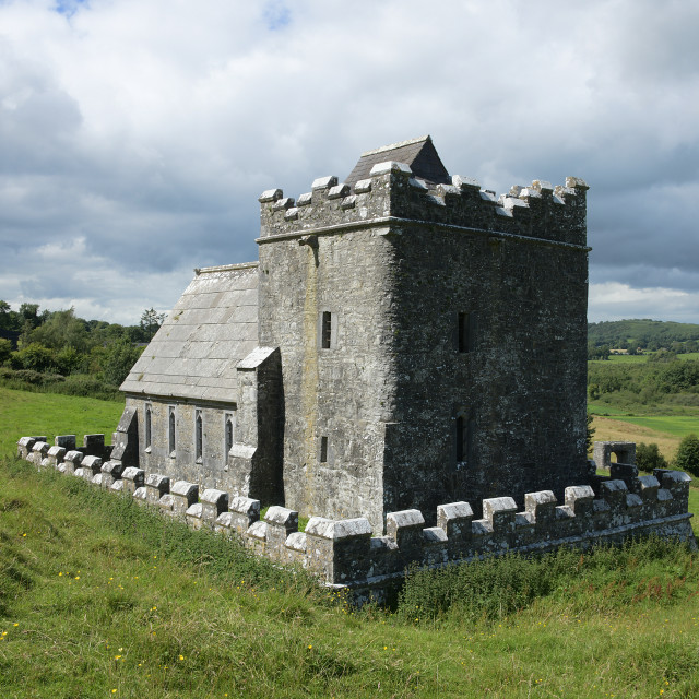 """""""Anchorite's chapel , Fore Abbey"""" stock image"""