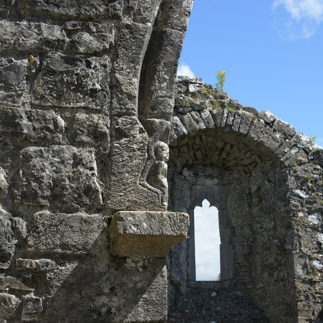 """""""Fore Abbey, County Westmeath"""" stock image"""