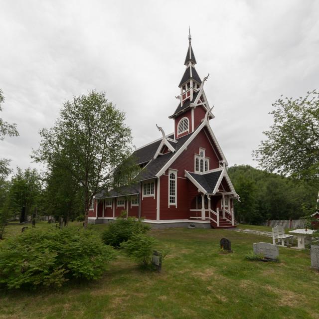 """Neiden chapel"" stock image"
