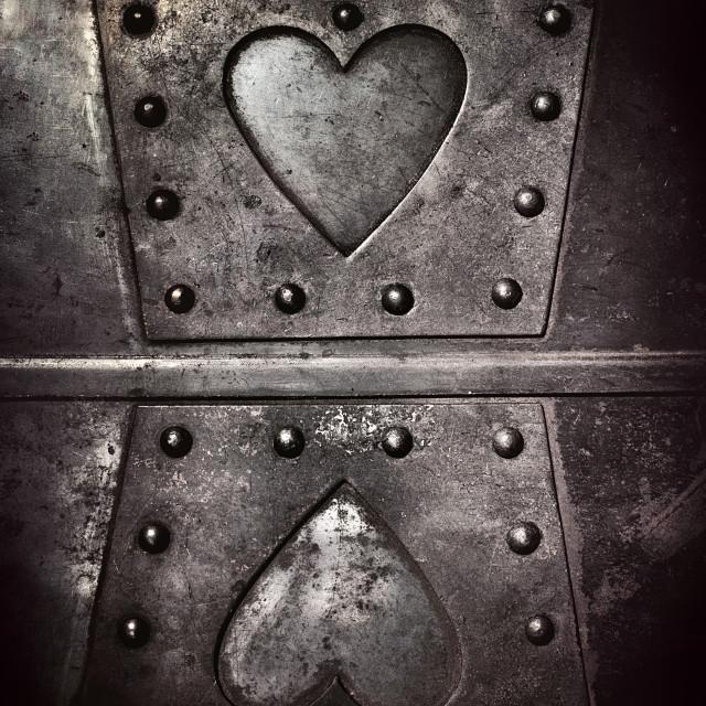 """""""Heart Of The Fireplace III"""" stock image"""