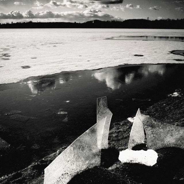 """""""Contrast (Iced Lake)"""" stock image"""