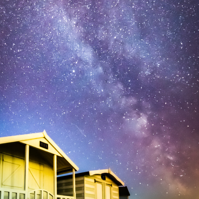 """Milky Way over Brightlingsea"" stock image"