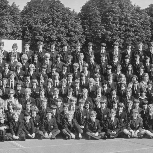 """Kings School 1978 - Group 2"" stock image"