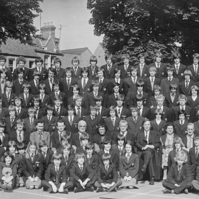 """Kings School 1978 - Group 4"" stock image"