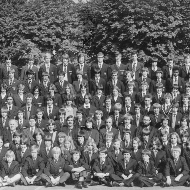 """Kings School 1978 - Group 3"" stock image"