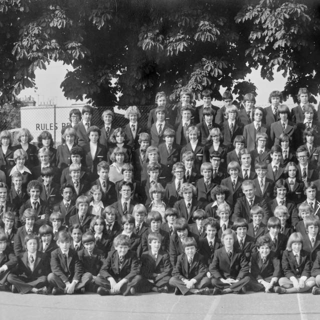 """Kings School 1978 - Group 6"" stock image"