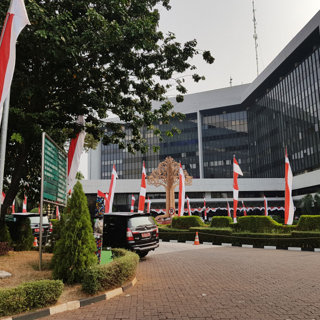 """Ministry of Environment and Forestry building, Jakarta, Indonesia"" stock image"