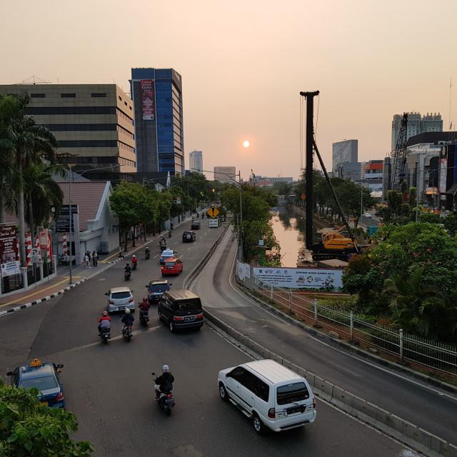 """""""Jakarta at Dusk"""" stock image"""