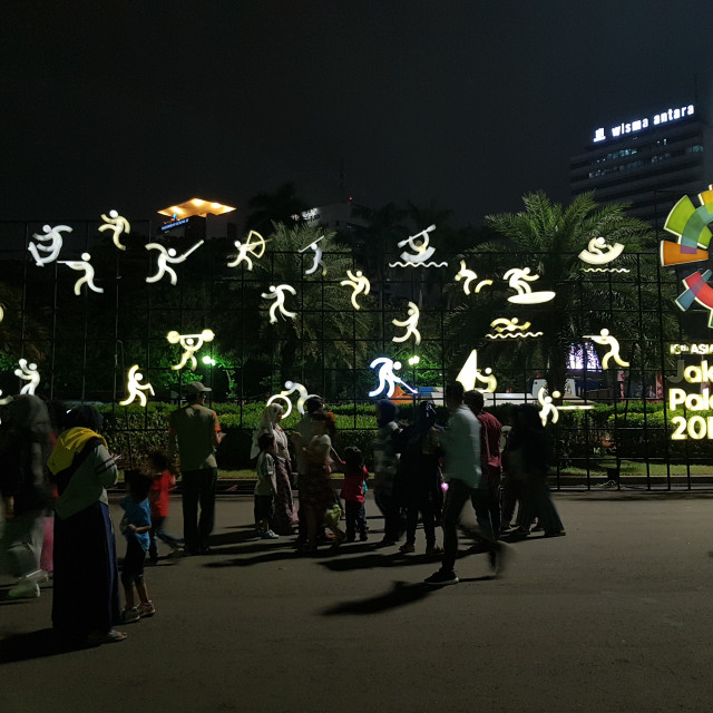 """Asian Games display, Jakarta, 2018"" stock image"
