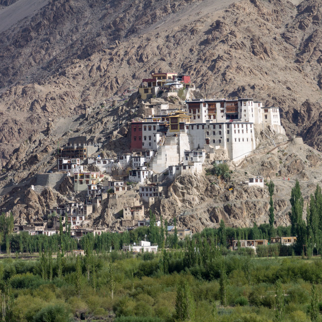 """Spituk Gompa in Ladakh"" stock image"