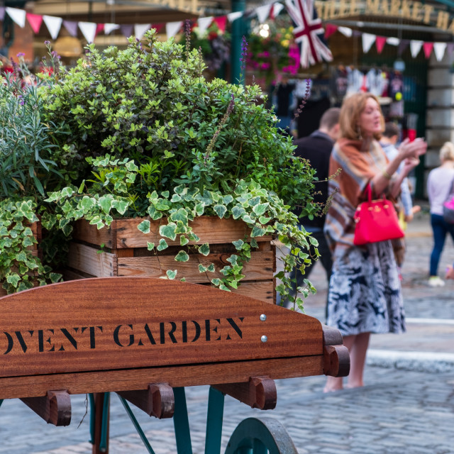 """A view in Covent garden Market in London."" stock image"