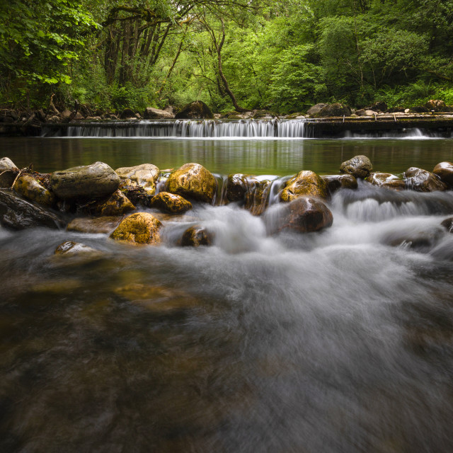 """""""The Afon Twrch river at Cwmllynfell"""" stock image"""