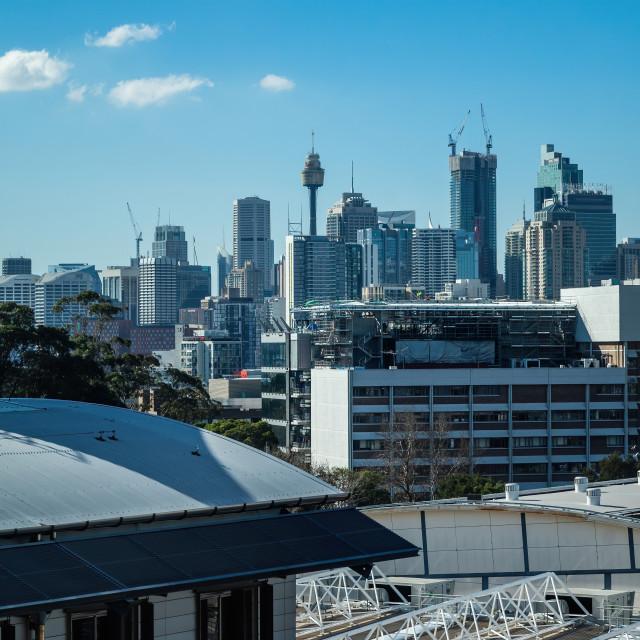 """Sydney Tower, CBD, Sydney, Australia"" stock image"