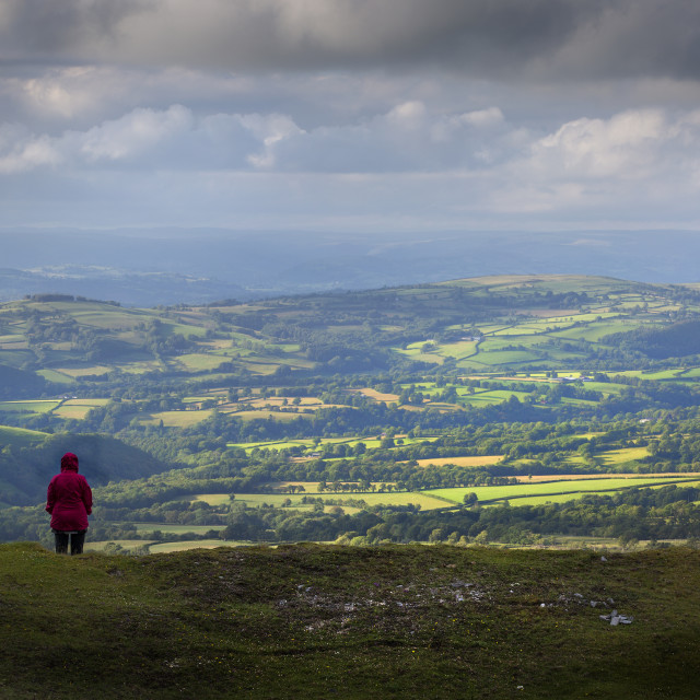 """Solitude on the Black Mountain"" stock image"