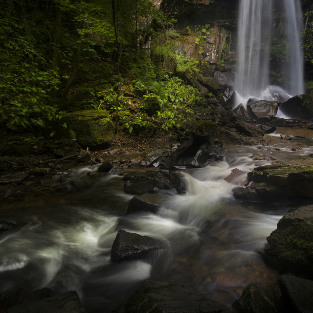 """Melincourt waterfall in Resolven, South Wales"" stock image"