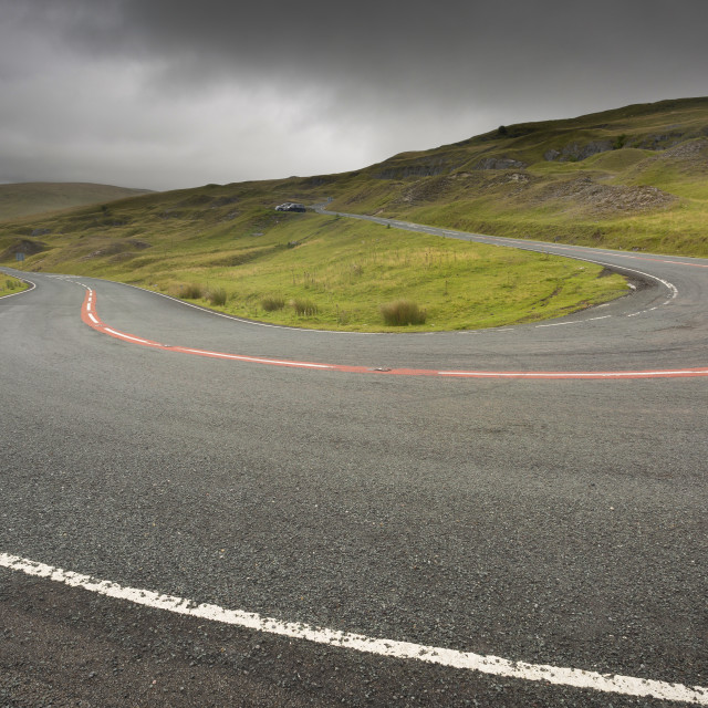 """Black Mountain Pass in South Wales"" stock image"