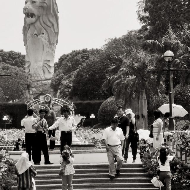 """Sentosa Merlion, Singapore"" stock image"